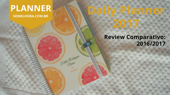 Daily Planner 2017 Paperview: Review comparativo 2016