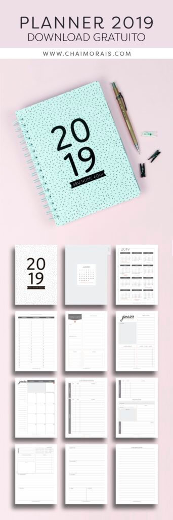 planner 2019 completo