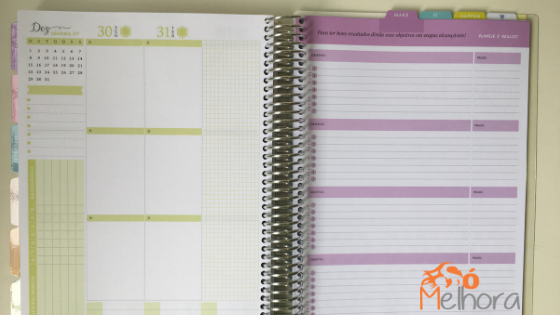 exemplo de página do daily planner 2019 Paperview